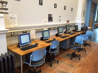 Photo of computers ICT in a library