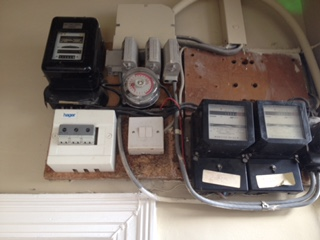 Photo of electricity meters
