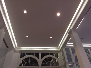 Photo of lighting in a library